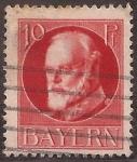 Stamps : Europe : Germany :  Príncipe Regente Luitpold  1914 10 pfennig