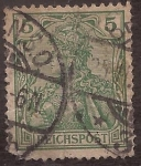 Stamps : Europe : Germany :  Germania con Corona Imperial  1900 reichspost 5 reichspfennig