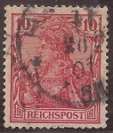 Stamps : Europe : Germany :  Germania con Corona Imperial  1899 reichspost 10 reichspfennig