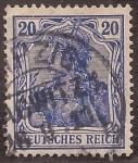 Stamps : Europe : Germany :  Germania con Corona Imperial  1900 reichspost 20 reichspfennig