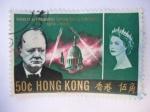 Stamps Hong Kong -  Winston Leonard Spencer Churchill 1874-1965.