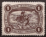 Stamps : America : Germany :  Z-R-III Los Angeles   1924 1$