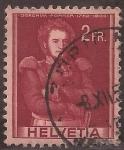 Stamps Switzerland -  Coronel Joaquim Forrer  1941 2 francos