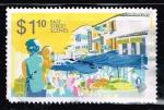 Stamps : Asia : Singapore :  PAST STREET SCENES