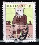 Sellos del Mundo : Europa : Polonia : KOZIOROZEC  Signo del zodíaco.  Capricornio.