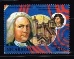 Sellos del Mundo : America : Nicaragua : JAMES bRADLEY 1693-1762  OBSERVATORIO GREENWICH CON EL BALON HORARIO
