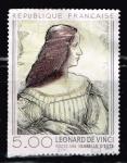 Stamps : Europe : France :  ISABELLE D´ESTE   LEONARD DE VINCI