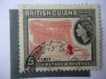 Stamps United Kingdom -  Colonias - Britis Guiana.