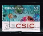 Stamps : Europe : Spain :  EFEMERIDES.  75 ANIVER. DEL CSIC  CONSEJO SUPERIOR DE INVESTIGACIONES CIENTIFICAS