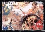Stamps : Europe : Spain :  PATRIMONIO NACIONAL  TAPIZ  ZENOBIA Y EL EMPERADOR AURELIANO ( S. XVII )