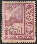 Stamps Czechoslovakia -  441 - Serie Esfuerzo de Reconstrcción