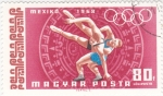 Stamps Hungary -  juegos olimpicos Mexico-68
