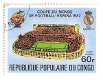 Stamps Democratic Republic of the Congo -  Copa mundial de futbol, España 82.