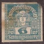 Stamps Europe - Austria -  Mercurio  1920 sin dentar 6 heller