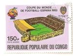 Stamps Democratic Republic of the Congo -  Copa mundial de futbol, España 82.