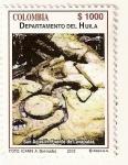 Sellos del Mundo : America : Colombia : Departamento del Huila. Fuente de Lavapatas, San Agustin.