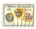 Sellos de America - Colombia -  Visita de Eduardo Frei y Raul Leoni, presidentes de Chile y Venezuela.