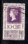 Sellos de America - México -  Centenario del primer timbre postal en el mundo
