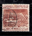 Sellos del Mundo : America : México : II Conferencia Interamericana de Agricultura