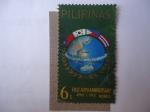Sellos de Asia - Filipinas -  Primer Aniversario Feliz-Abril 1 de 1963