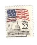 Sellos de America - Estados Unidos -  Bandera USA