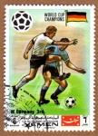 sellos de Asia - Yemen -  RES-EQUIPO DE FUTBOL ALEMANIA - MEXICO'70
