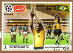 Stamps Yemen -  RES-EQUIPO DE FUTBOL BRASIL - MEXICO'70
