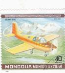 Sellos de Asia - Mongolia -  avión deportivo