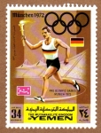 Stamps Yemen -  RES-PORTADOR DE ANTORCHA