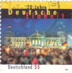 Stamps Germany -  20 aniversario Einheit