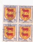 Stamps France -  escudo de Bearn