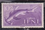 Sellos de Africa - Marruecos -  dia del sello colonial-pez martillo