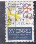 Stamps Andorra -  XIV congres
