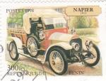 Stamps Benin -  coche de epoca
