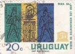 Sellos de America - Uruguay -  UNESCO- para salvar los monumentos de Nubia
