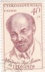 Sellos de Europa - Checoslovaquia -  Vladimir I. Lenin 1870-1970