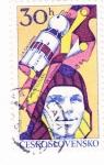 Sellos de Europa - Checoslovaquia -  aeronautica-Gagarin