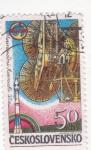 Sellos de Europa - Checoslovaquia -  aeronautica- intercosmos