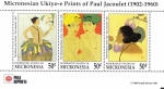 Stamps Oceania - Micronesia -  Obras del pintor Paul Jacoulet