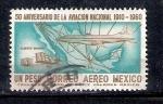 Stamps : America : Mexico :  50 Aniversario de la Aviación Nacional 1910-1960