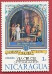 Stamps Nicaragua -  Vía Crucis Catedral de León
