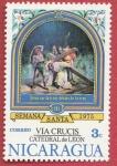 Stamps : America : Nicaragua :  Vía Crucis Catedral de León