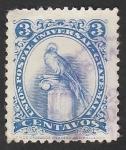 Stamps : America : Guatemala :  366C - Quetzal, 75 Anivº del U.P.U.