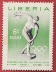 Stamps : Africa : Liberia :  16th Olympic Games