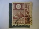 Sellos de Asia - Japón -  Volcán de fujiyama (Islas de Honsho) - 20sen