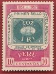 Stamps : America : Peru :  Centenario del primer sello postal peruano