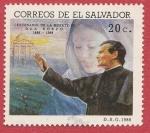 Stamps : America : El_Salvador :  Centenario de la muerte de Don Bosco
