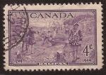 Stamps Canada -  Bicentenario Fundación de Halifax  1949 4 centavos