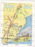 Sellos de America - Sudáfrica -  rutas de colonización