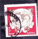 Stamps Brazil -  navidad-75